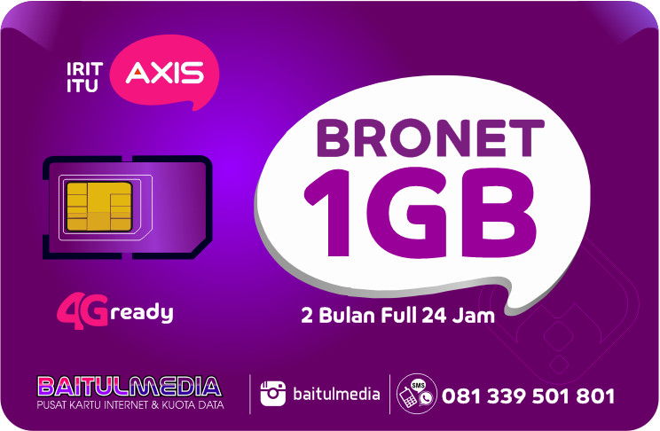 Paket Internet Murah Axis 1GB