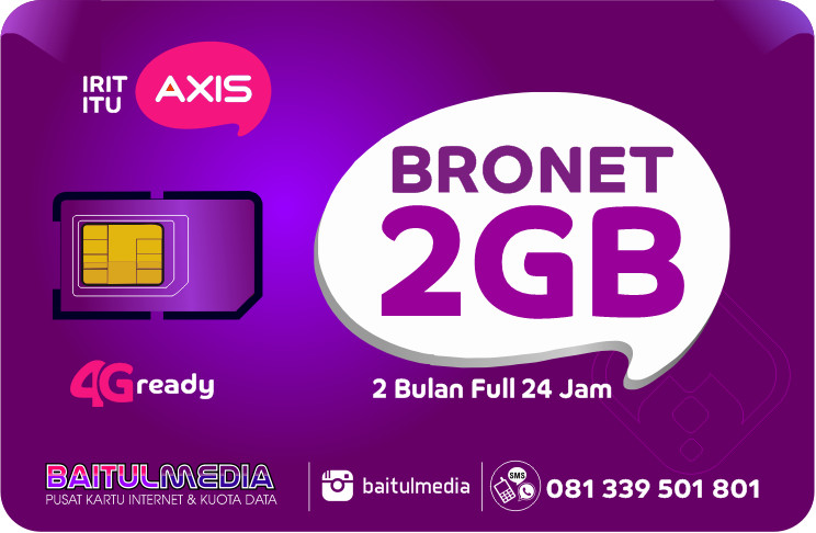 Paket internet Axis Bronet Kuota 2GB