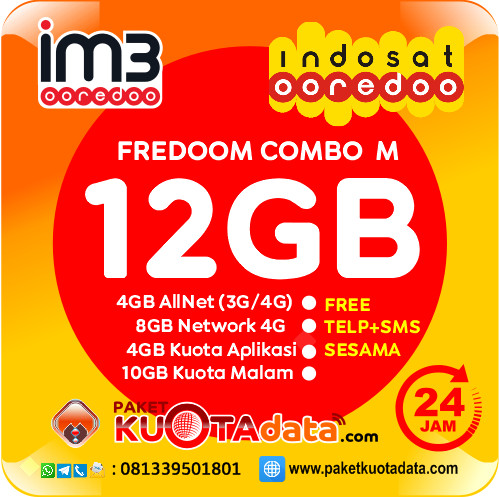 Indosat Data – Freedom M (12GB)