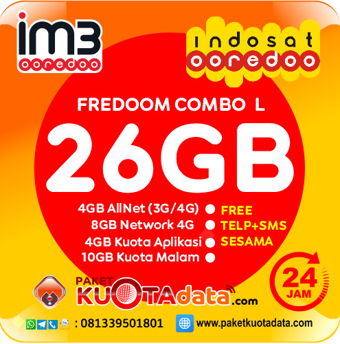 Indosat Data – Freedom L (26GB)