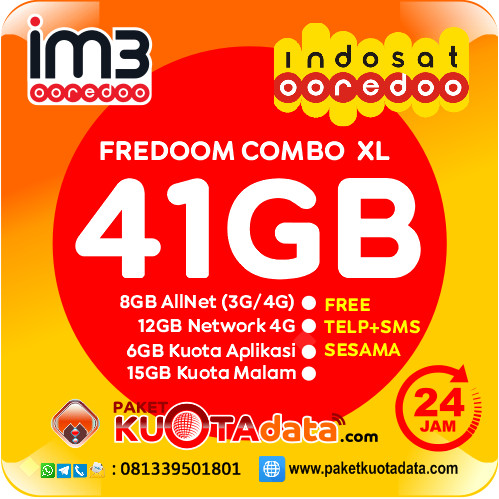 Indosat Data – Freedom XL (41GB)