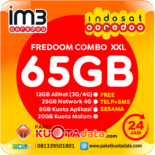 Indosat Data – Freedom XXL (65GB)