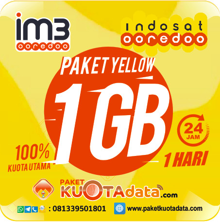 Indosat Data Yellow – 1Gb, 1Hr