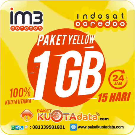 Indosat Data Yellow – 1Gb, 15Hr