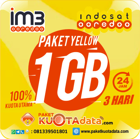 Indosat Data – Yellow 1GB (3Hari)