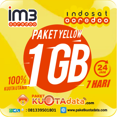Indosat Data Yellow – 1GB, 7Hr