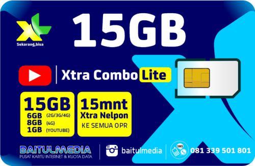 Paket Internet XL Combo Xtra Lite Kuota 15 GB