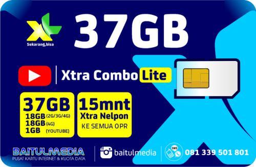 Paket Internet XL Combo Xtra Lite Kuota 37 GB