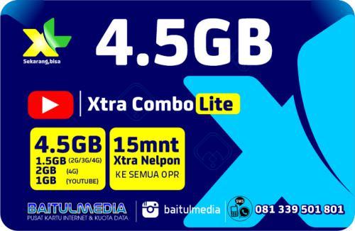 Paket Internet XL Combo Xtra Lite Kuota 4,5 GB