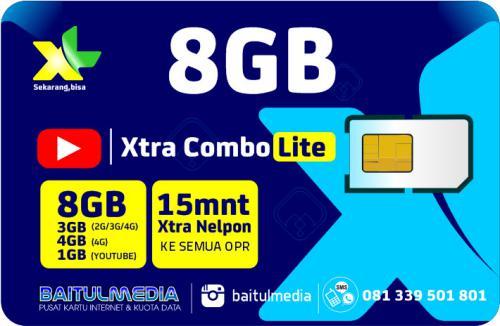 Paket Internet XL Combo Xtra Lite Kuota 8GB