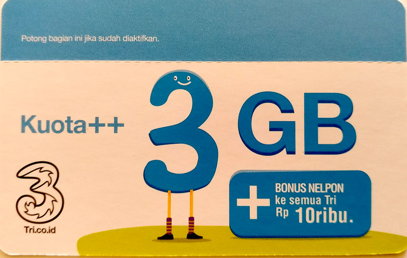 Voucher Kuota Internet Tri 3GB