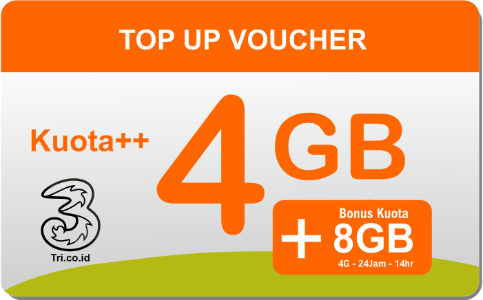 Voucher Internet Tri Kuota 4GB Reguler