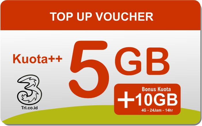 Voucher  Kuota Internet Tri 5GB
